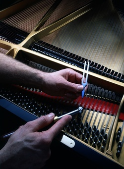 Expert Tuning a Piano